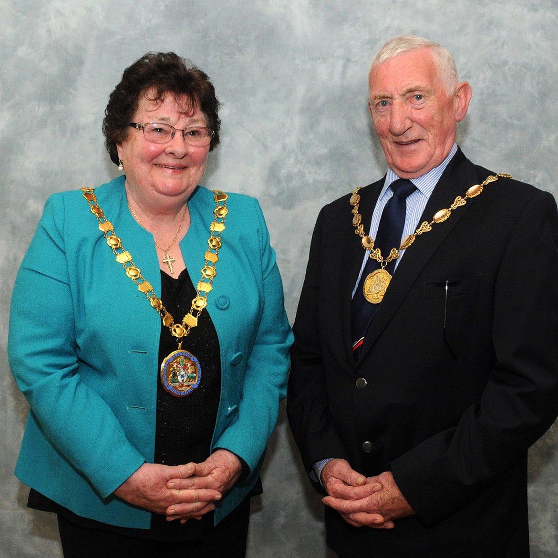 Mayor and Deputy Mayor Cllr Hilary Harrington and Cllr Malcolm Grainger